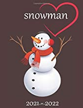 """snowman: 2021-2022 Monthly Planner - 24-Month Planner with Tabs & Pocket & Label, Contacts, and Passwords, 8.5"""" x 11"""", January 2021 - DEC 2022"""