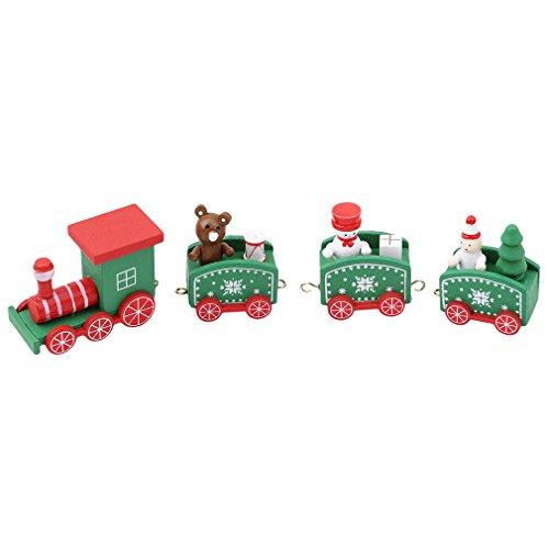 HENGSONG Drôle Petit Train en Bois Enfants Jouets de Noël...