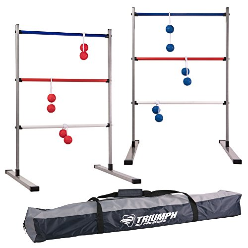 Triumph Classic Ladder Toss Game Set - Includes 6 Soft Bolas and Carry Case