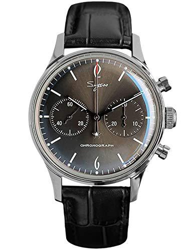 SU1901F003 Herren-Armbanduhr aus konvexem Mineralglas, grau, Chronograph Seagull ST1901 Uhrwerk