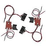 Interrupteur de scie avec lumière 2 pièces interrupteur de déclenchement de scie régulation de vitesse en continu Durable pour scie sabre électrique au Lithium pour scie 12 V-21 V