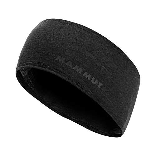 Mammut Merino Headband Stirnband, Black Melange, One Size