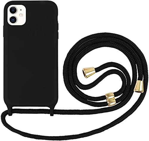 Oihxse Funda con Cuerda Compatible con iPhone 6/6S 4.7', Silicona Líquida Suave con Correa Colgante Ajustable Case, Anti-rasguños Antigolpes Protección Cover