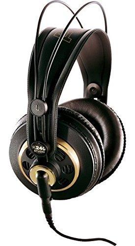 AKG Pro Audio K240 STUDIO Over-Ear, Semi-Open, Professional Studio Headphones (Renewed)