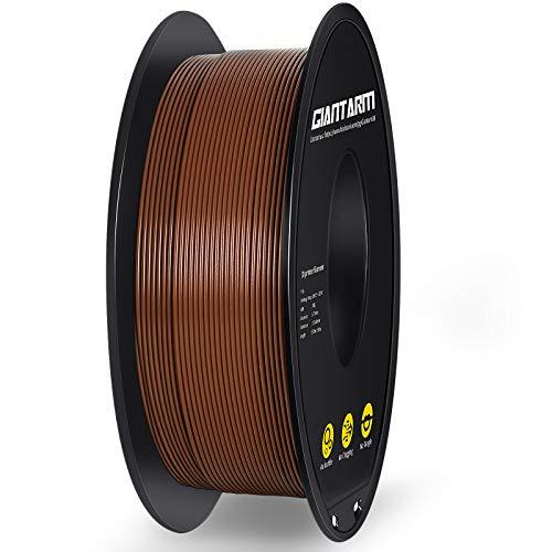 Filamento PLA 1.75mm, GIANTARM PLA Filamento para impresión 3D, 1kg 1 Spool,marrón…