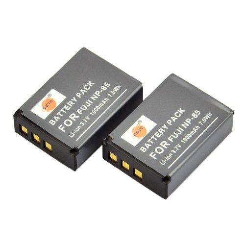 DSTE 2x NP-85 Ricaricabile Li-ion Batteria per Fujifilm Fuji FinePix SL1000 SL240 SL260 SL280 SL300 SL305 Macchina Fotografica