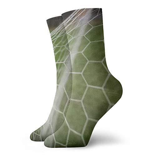 Calcetines cortos unisex para adultos de fútbol con patadas en la meta de algodón clásicos para hombre y mujer, para correr, fitness y deportes