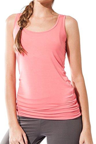 Camicia senza maniche da donna Sportiva Sternitz - Multicolore - Maya Top - ideale per pilates, yoga e qualsiasi sport, tessuto di bambù, ecologico e morbido. (Small, Rosa)