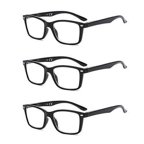 Suertree Feder Scharnier (3 Pack) Lesebrillen Sehhilfe Augenoptik Brille Lesehilfe für Damen Herren 3.0X BM151