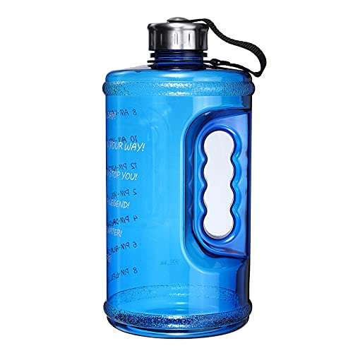 Botellas deportivas de 2,2 L para deportes al aire libre, interior, botella de agua, fitness, gimnasio, escalada, equitación, correr, hervidor de agua (tamaño: tamaño libre; color: azul)