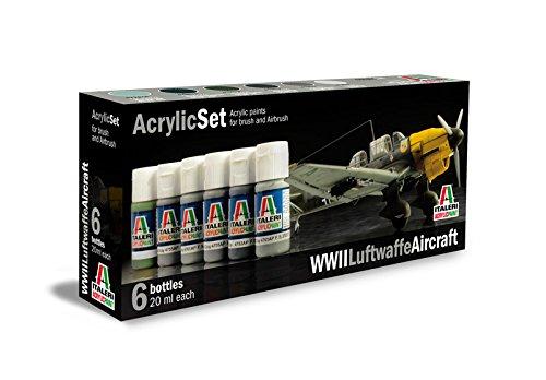 Italeri 510000436 - Conjunto de Pinturas acrílicas para los Modelos Pintura, razón: Luftwaffe Segunda Guerra Mundial