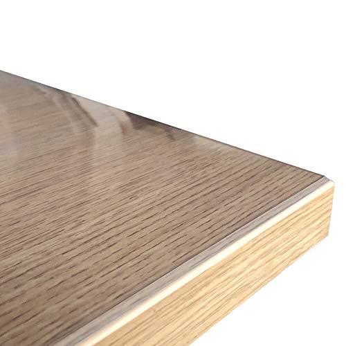 Profolio | Originale Tischfolie transparent mit abgeschrägten Kanten | Hochglanz Tischdecke Tischschutz für Ihren Tisch | Made in Germany | Größe wählbar | 120 x 80 cm