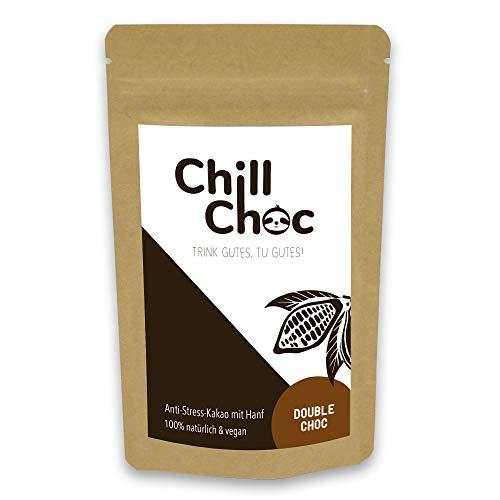 ChillChoc | Anti-Stress-Trinkschokolade, Kakao | warm und kalt genießen, Top-Geschenke (Double Choc_alt, 100)