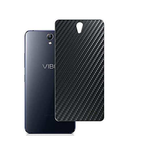Vaxson 2-Pack Back Protector Film, compatible with Lenovo VIBE S1, Black Carbon Fiber Guard Cover Skin [Not Tempered Glass/Not Front Screen Protectors]