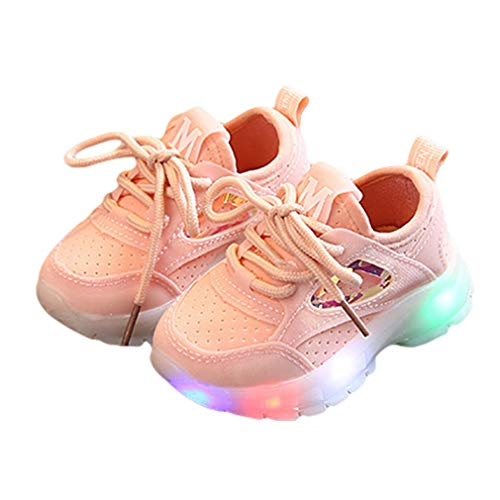 Boys Girls LED Shoes Kids Low Top Sneakers Toddler Light Up Flashing Shoes...