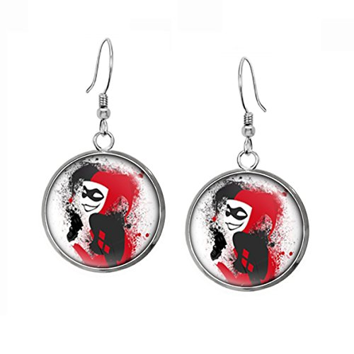 41pjYWY-MwL Harley Quinn Earrings