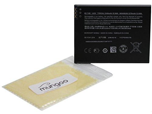Batteria originale Microsoft BV-T4D agli ioni di litio per Microsoft Lumia 950XL, Lumia 950XL DS + GRATIS mungoo® Panno pulisci schermo