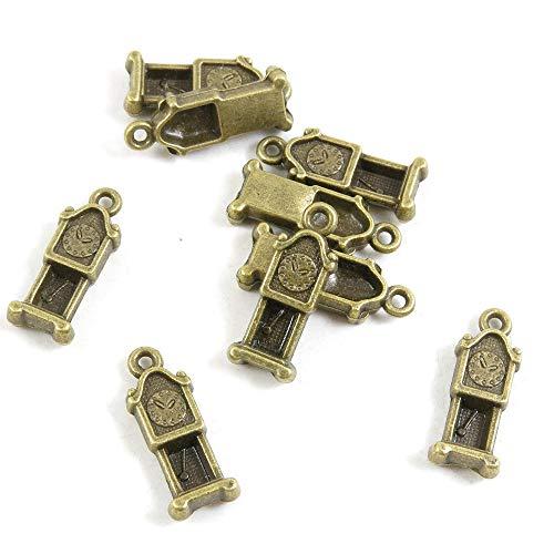 Antieke Bronzen Toon Sieraden Charms F9TD8I Grootvader Klok Craft Art Maken Crafting Kralen Antiek brons