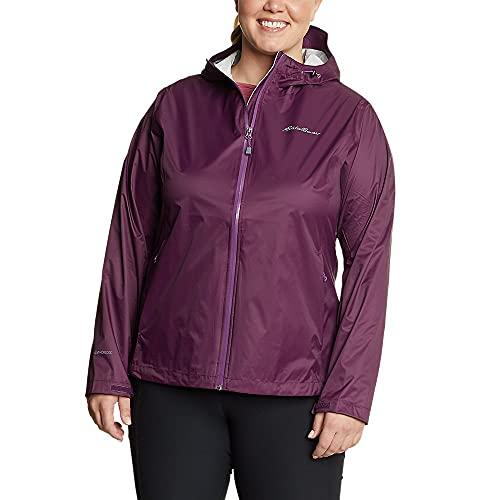 Eddie Bauer Women's Cloud Cap Rain Jacket, Dk Plum X-Small