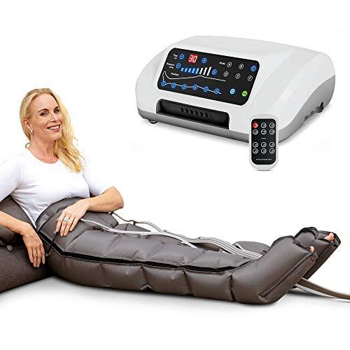Vein Angel 6 Premium apparecchio per massaggi con gambali, 6 camere d'aria disattivabili, pressione & durata facilmente regolabili, 6 programmi di massaggio, no...