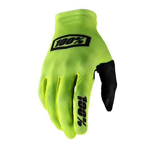 100% CELIUM Mountain Biking Gloves (2XL - FLUO YELLOW/BLACK) MTB & Power Sport Racing Protective Gear - 2Extra Large