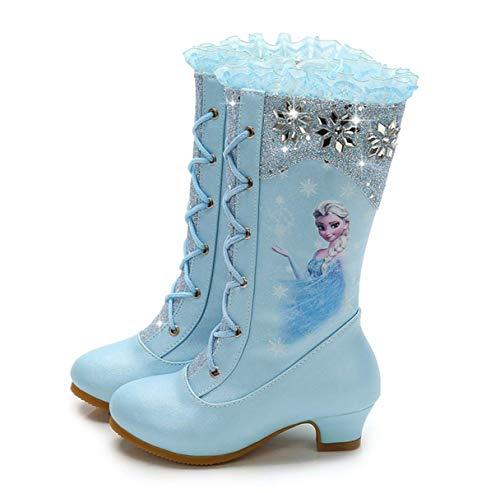 LOBTY Botas de tacón Alto para niñas Bailarina Snow Queen