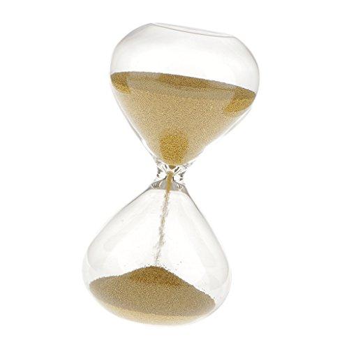 F Fityle 3 Minuten Sanduhr Glas Eieruhr Geschenk für Freund - Gold