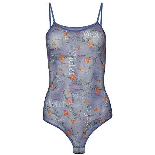 Magi Body damskie | Tulowe body z ramiączkami typu spaghetti S M L XL XXL podniesione, optymalne dopasowanie, damskie stringi body dla kobiet, przezroczyste | bielizna pod ubranie