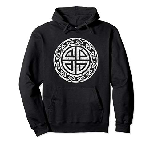Protection Shield Knot Celtic Norse Viking Symbol Odin Thor Pullover Hoodie