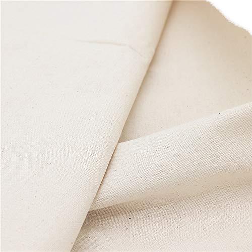 LOVOUS 100% Nature Linen Needlework Fabric, Plain Solid...