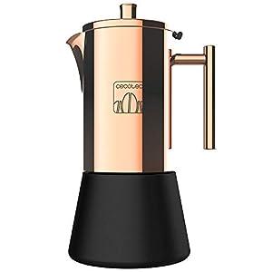 Cecotec Cafetera italiana Moking 1000.Acero inoxidable, diseño elegante, apta para lavavajillas, capacidad 500 ml, apta para cocina de inducción, gas, eléctrica o vitrocerámica