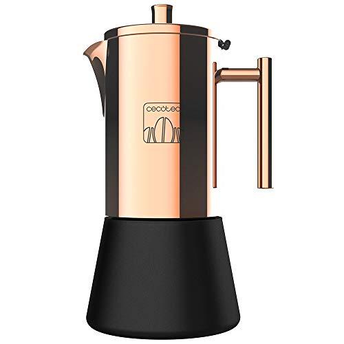 Cecotec Cafetera Italiana Moking 400. Acero Inoxidable, diseño Elegante, Apta para lavavajillas, Capacidad 200 ml, Apta para Cocina de inducción, Gas, eléctrica o vitrocerámica
