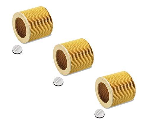 Cartuchos Filtro para aspiradora en húmedo/seco húmedo aspirador/aspiradora multiusos/Lavado Aspiradora Kärcher A2204 wd2 WD3 MV2 MV3 wd2.200 wd3.500 P WD 3.200 WD 3.300 M WD 3.500 P como 6.414–552.0