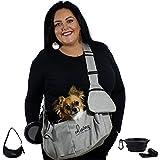 ®Sac de transport pour petits chiens jusqu'à environ 3kg [insert souple] Sac de transport pour chiens, chats, chiots avec ceinture de sécurité +accessoires pour les promenades, les voyages