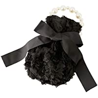 Catherine Cottage 結婚式 発表会 パーティー パール持ち手の巾着バッグ キッズ 子供 女の子PC096 フリー タイプ2・ブラック[BLK2]