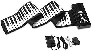 JJSFJH Portable Piano Keyboard 88 Keys Roll Up Piano Recording,Programming,Playback Functions Three Digital Tube Display