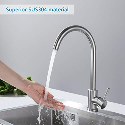 Auralum® Armatur Einhebel Wasserhahn Waschtischarmatur Wasserfall Waschbecken Bad Küche - 3