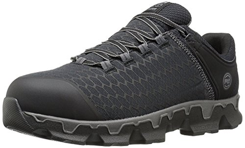 Timberland PRO Men's Powertrain Sport Alloy Safety Toe Electrical Hazard Athletic Work Shoe, Black Synthetic, 8