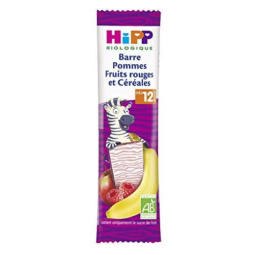 HiPP Biologique Barre Barre Pommes Fruits rouges et Céréales dès 12 mois - 20 barres de 25g
