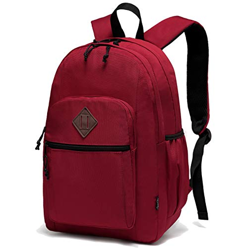 Backpack for Women,Chasechic Water Resistant Dual-compartments School Backpack 15-in Laptop Backpack,Red