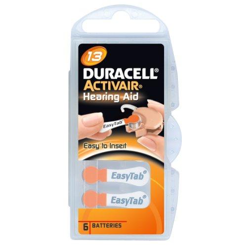 Duracell Activair Akkus für Hörgeräte, Größe 13, 5 Packungen mit je 6 Stück