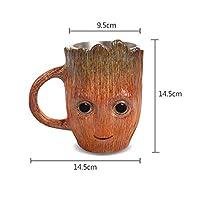 CHENTAOCS グルートコーヒーカップギフトステンレス製のカップ創造的な漫画のビールジョッキ赤ちゃんかわいいモデルカップ (色 : Groot)