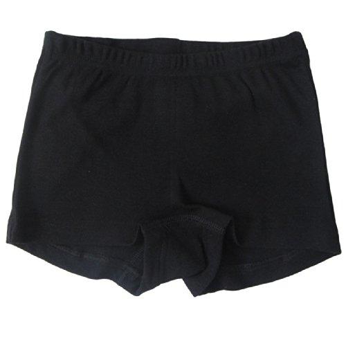 HERMKO 2710 Mädchen-Pant Panty aus 100% Bio-Baumwolle, Girl Unterhose Hose, Farbe:schwarz, Größe:176