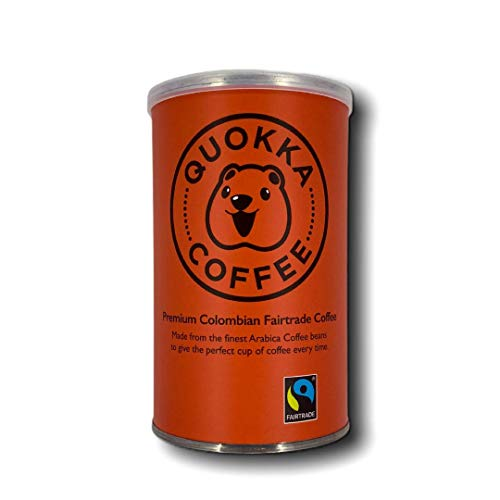 Quokka Coffee - Fairtrade - Premium 100% Colombian Arabica Instant Coffee (100g). Ethically Certified, Freeze Dried - 100 g Tin (1)