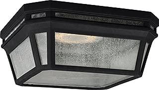 Feiss OL11313BK-LED Londontowne LED Marine Grade Outdoor Flush Mount Ceiling Lighting, Black, 1-Light (12