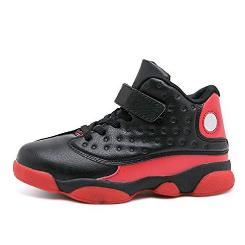 Qianliuk Kinder Basketball Schuhe Dämpfung rutschfeste Knöchelschutz Jungen Mädchen Atmungsaktive Basketball Sportschuhe