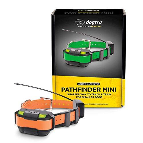 Dogtra Pathfinder Mini Zusatzempfänger 4-Mile 21 Hunde erweiterbar wasserdicht Smartphone GPS Tracking & Training Mini E-Halsband, Orange