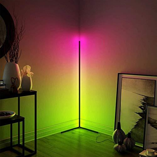 Lampara de pie ,RGB Regulable lampara de pie Lámpara De Piso Regulable LED 43 Pulgadas |Lámpara De Lectura De Color Minimalista RGB Cambiando De Pie Con Control Remoto Para La Lámpara De Atmósfera De
