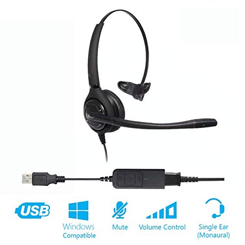 Project Telecom Advanced Monaural Noise Cancelling USB Headset | Compatible With Microsoft Surface