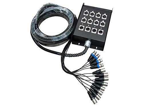 deetech 8/4 Kanal Multicore Kabel/Stagebox/Stage Box / 8x XLR 4x XLR 10m